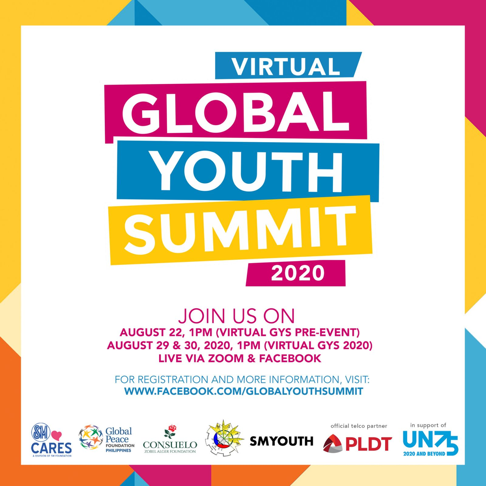 Global Peace Foundation, SM Cares to hold virtual Global Youth Summit from Aug. 29-30