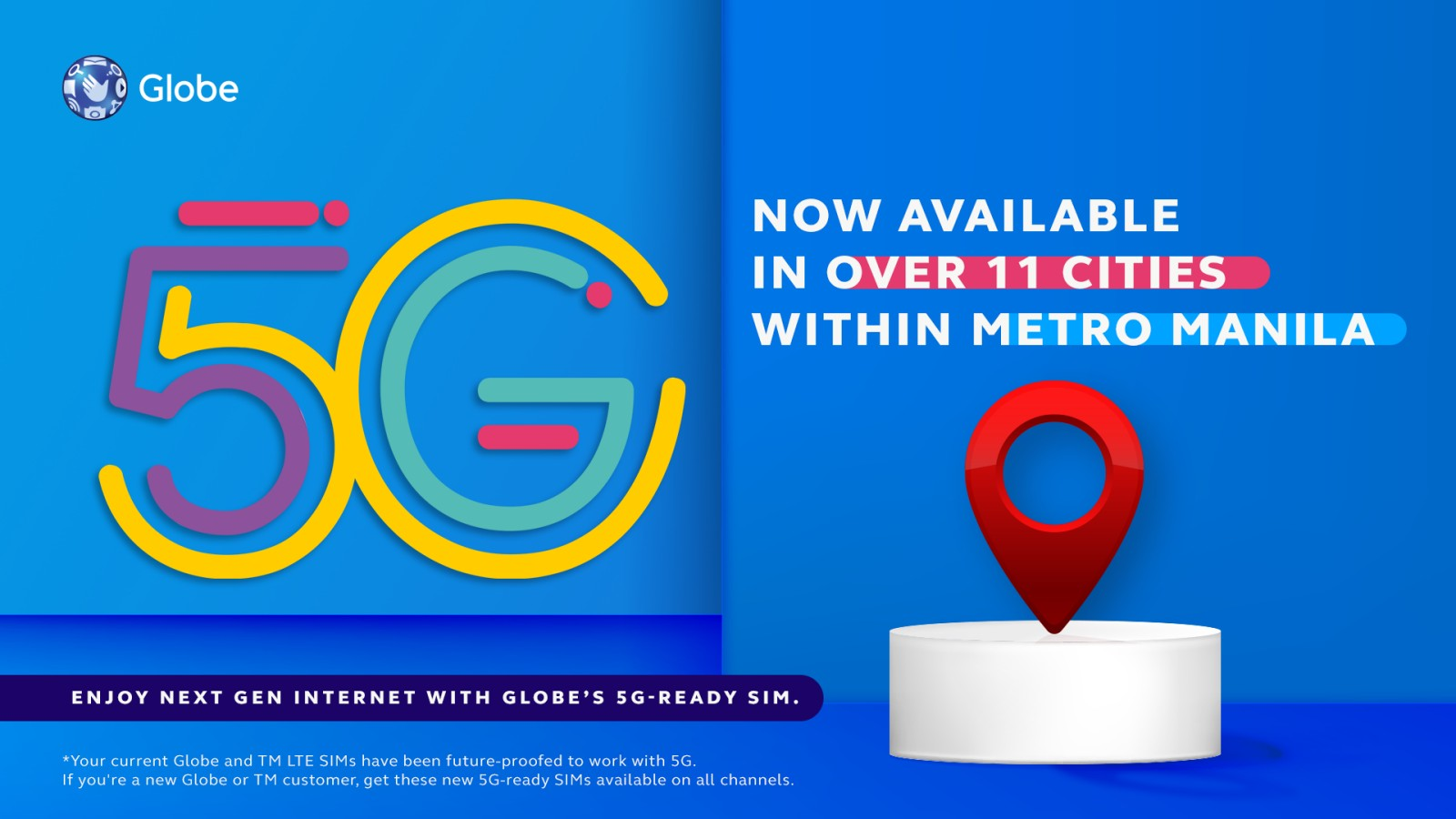 Globe announces the addition of new 5G locations in strategic areas in key cities in Metro Manila and nearby sites
