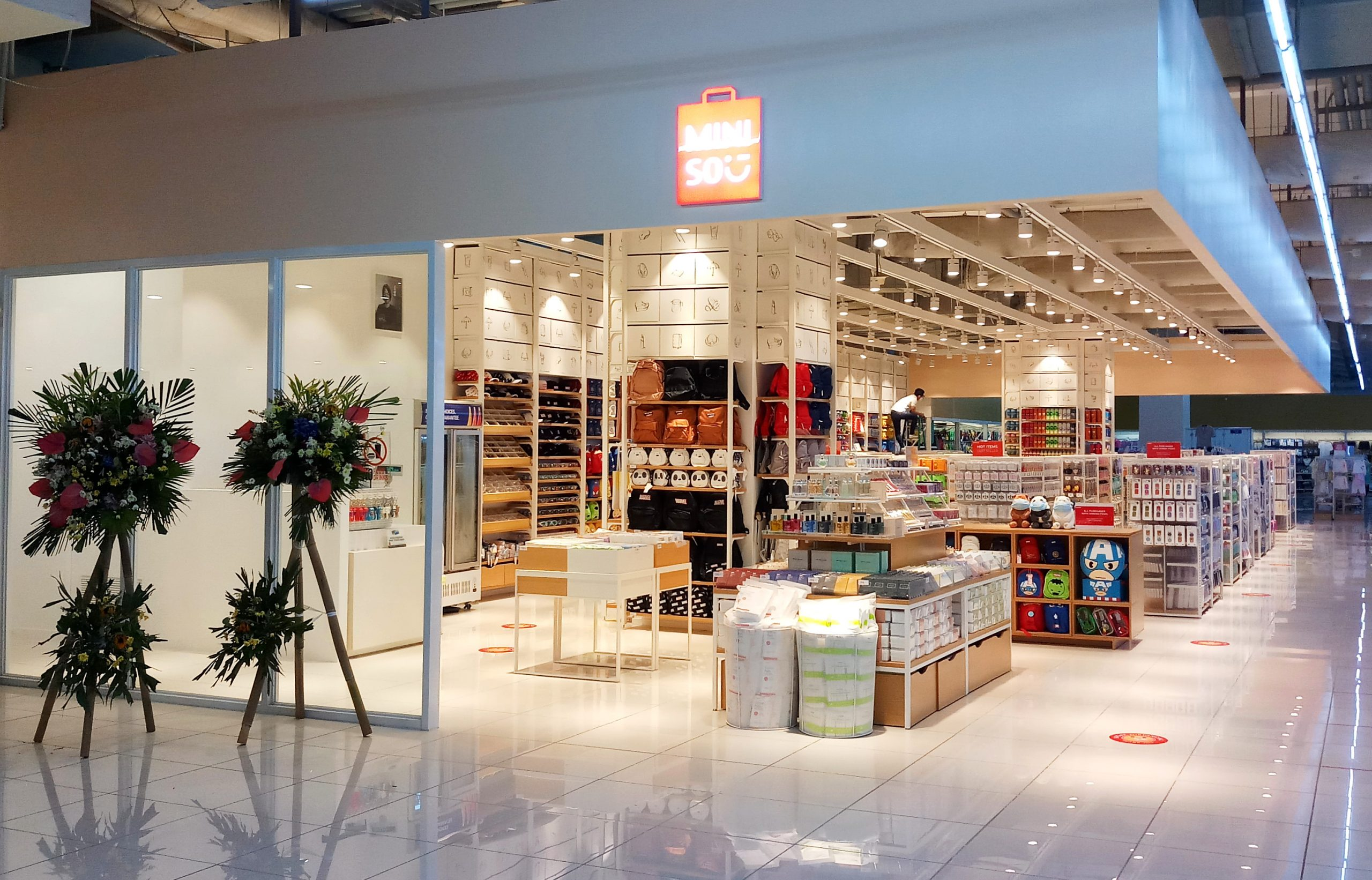 Bringing recreational shopping experience, Miniso opened its second outlet at SM City Marilao Hypermarket. The 214 square meter store carries innovative products ranging from Creative Home Necessities, Health & Beauty, Jewelry, Fashion Accessories, Stylistic Gifts, Office Supplies, Stationery Gifts, Seasonal Products, Boutique Package Decoration, Digital Accessories as well as Food and Drink.