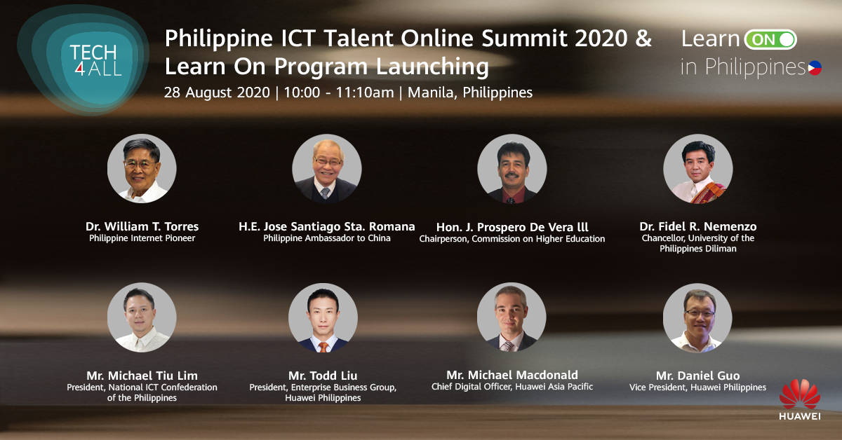 Huawei launched Learn On Program at the Philippine ICT Talent Online Summit 2020