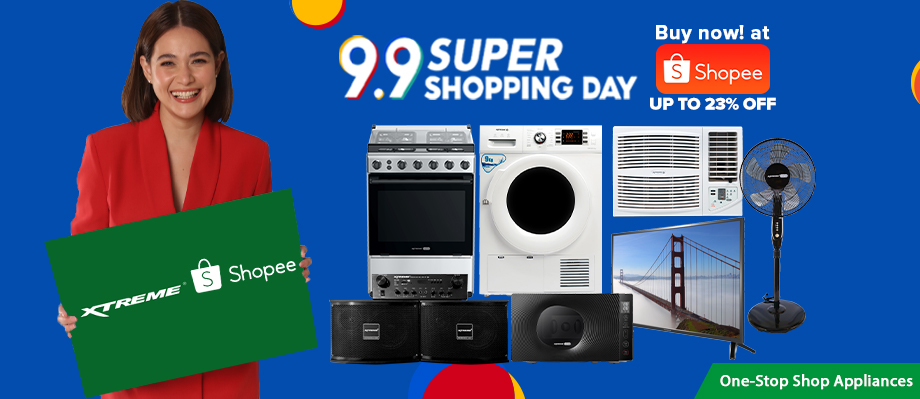 Price Drop of up to 23% on XTREME Appliances this Shopee 9.9 Super Shopping Day Sale
