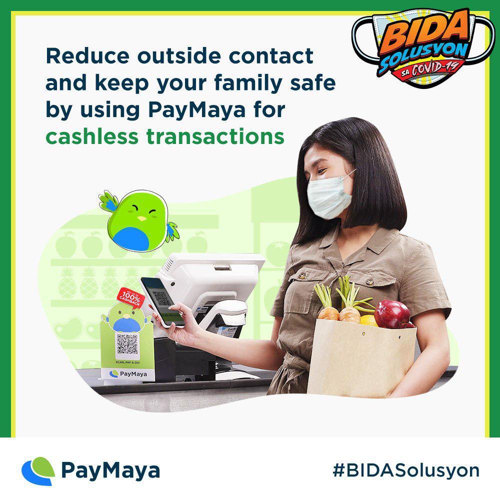 PayMaya accepts COD, supports DOH's Bida Solusyon