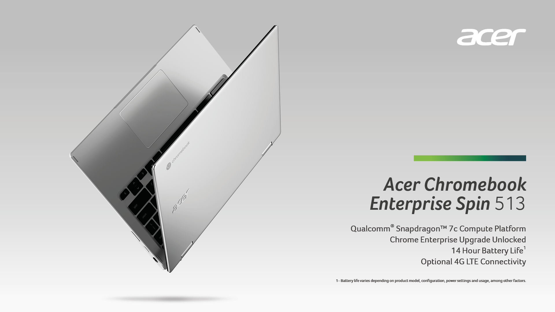 Acer's first Chromebook with the Qualcomm Snapdragon 7c compute platform is ultraportable, 4G LTE equipped