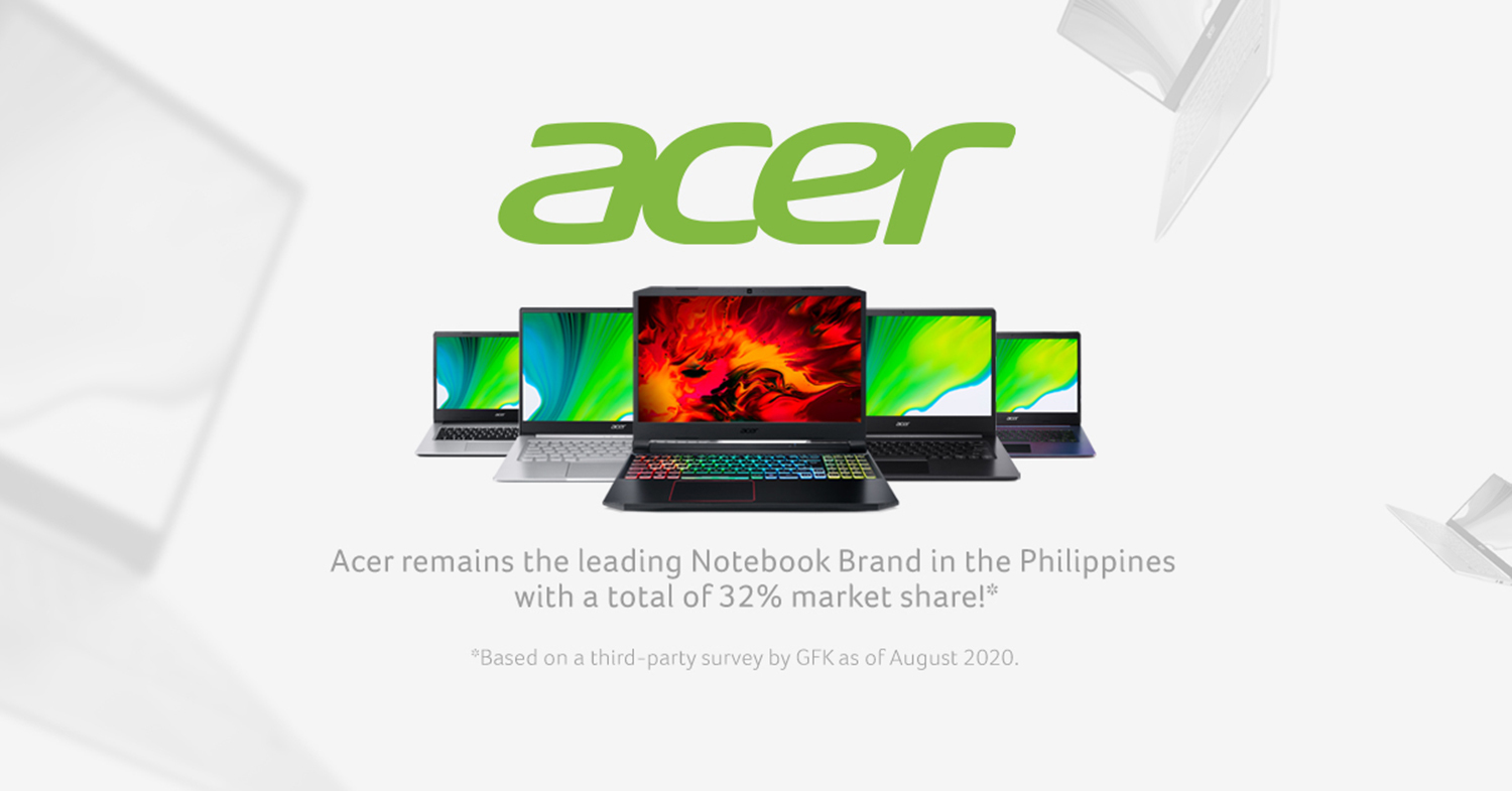 Acer keeps the No. 1 spot in the consumer and gaming laptop brand in the Philippines amid COVID-19 pandemic