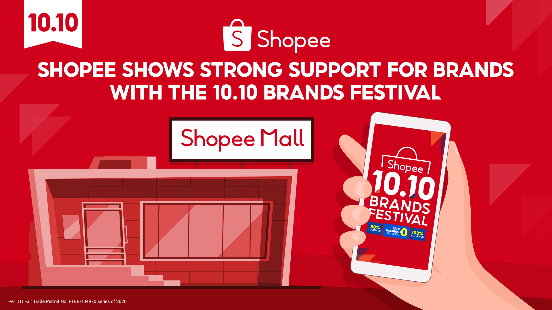 Shopee remains the most-trusted e-Commerce platform, strengthening its support for brands to reach millions of online customers through 10.10 Brands Festival