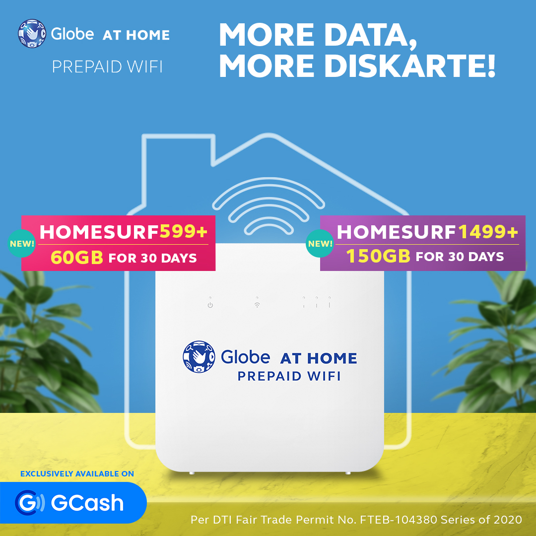 Globe At Home Prepaid WiFi Launches a GCash Exclusive: Bigger and Better HomeSURF599+ and 1499+