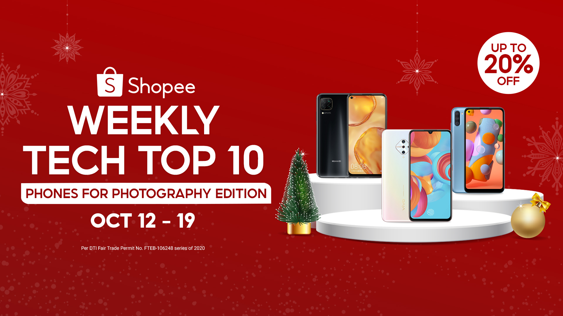 Here's a Weekly Top Ten must-haves for you this coming Holiday Season with branded smartphones under P15,000 on Shopee