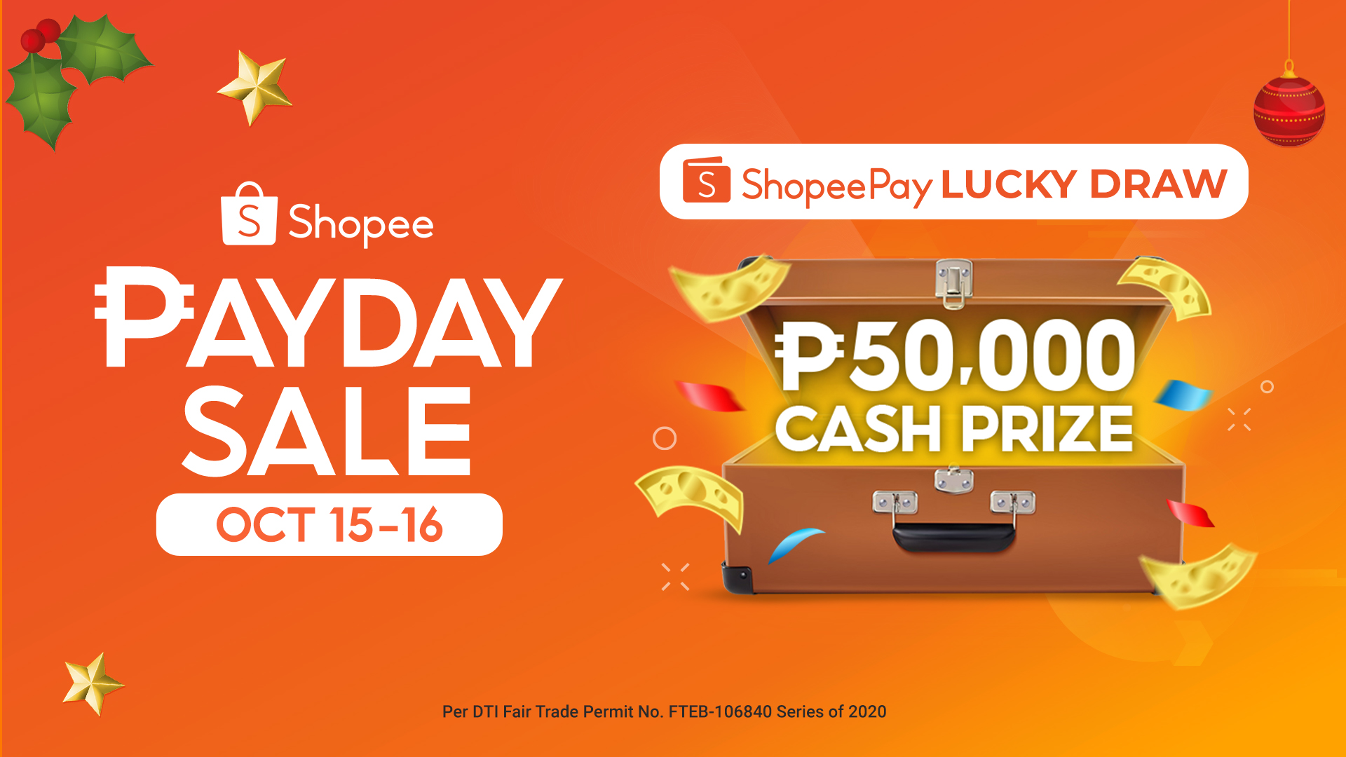 Top up on ShopeePay and stand a chance to win ₱50,000 this Shopee Payday Sale