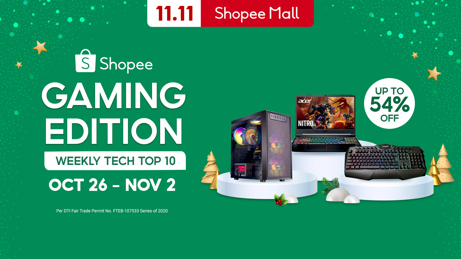 Get your game on with these fantastic deals of authentic gaming products with up to 54% off on Shopee from October 26 to November 2