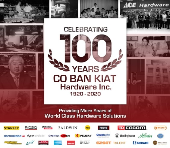 CBK Hardware celebrates 100 years of providing more years of world class hardware solutions