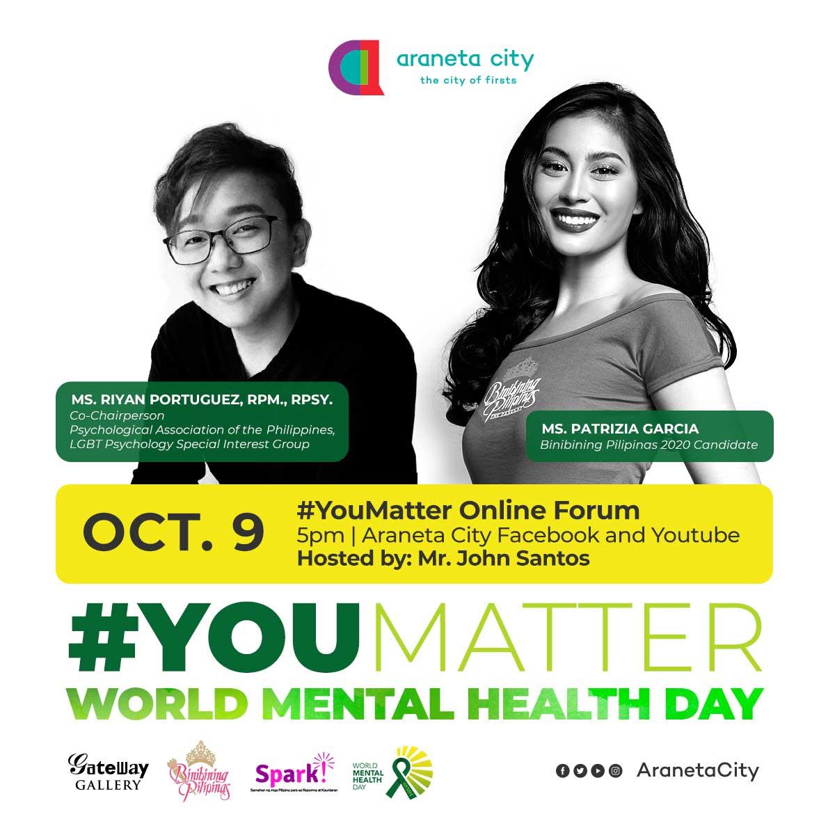 Araneta City celebrates #YouMatter on World Mental Health Day