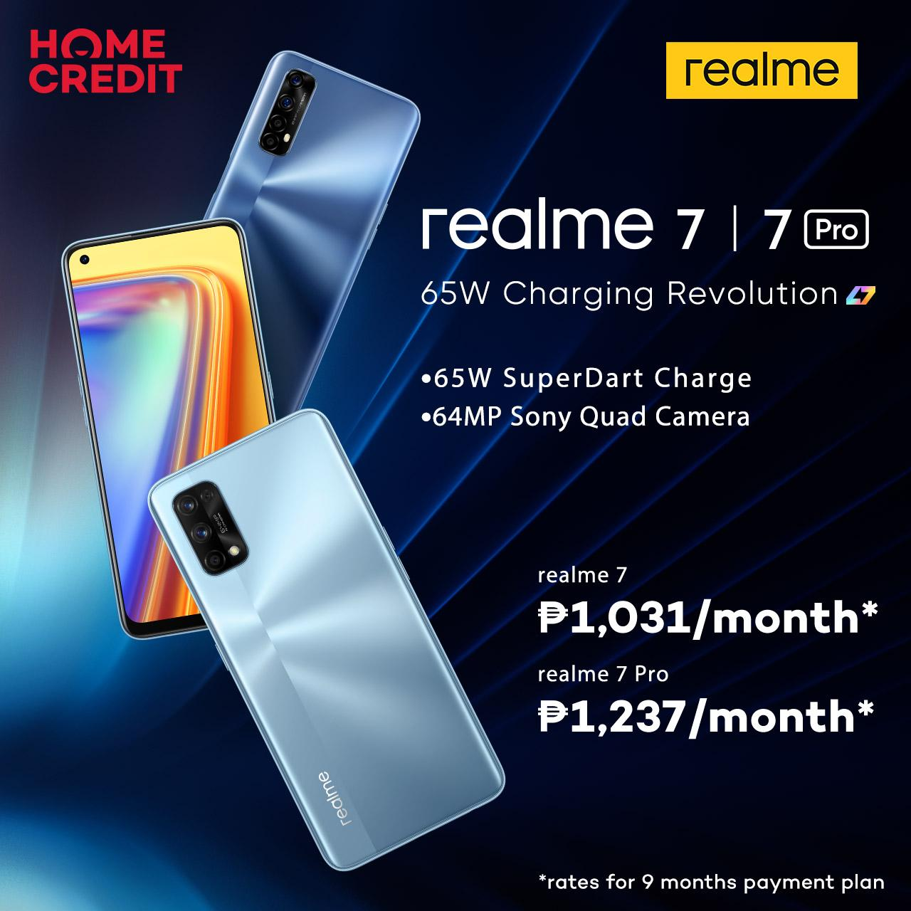 Get first dibs on the newest realme 7 Series with Home Credit's 0% installment plans
