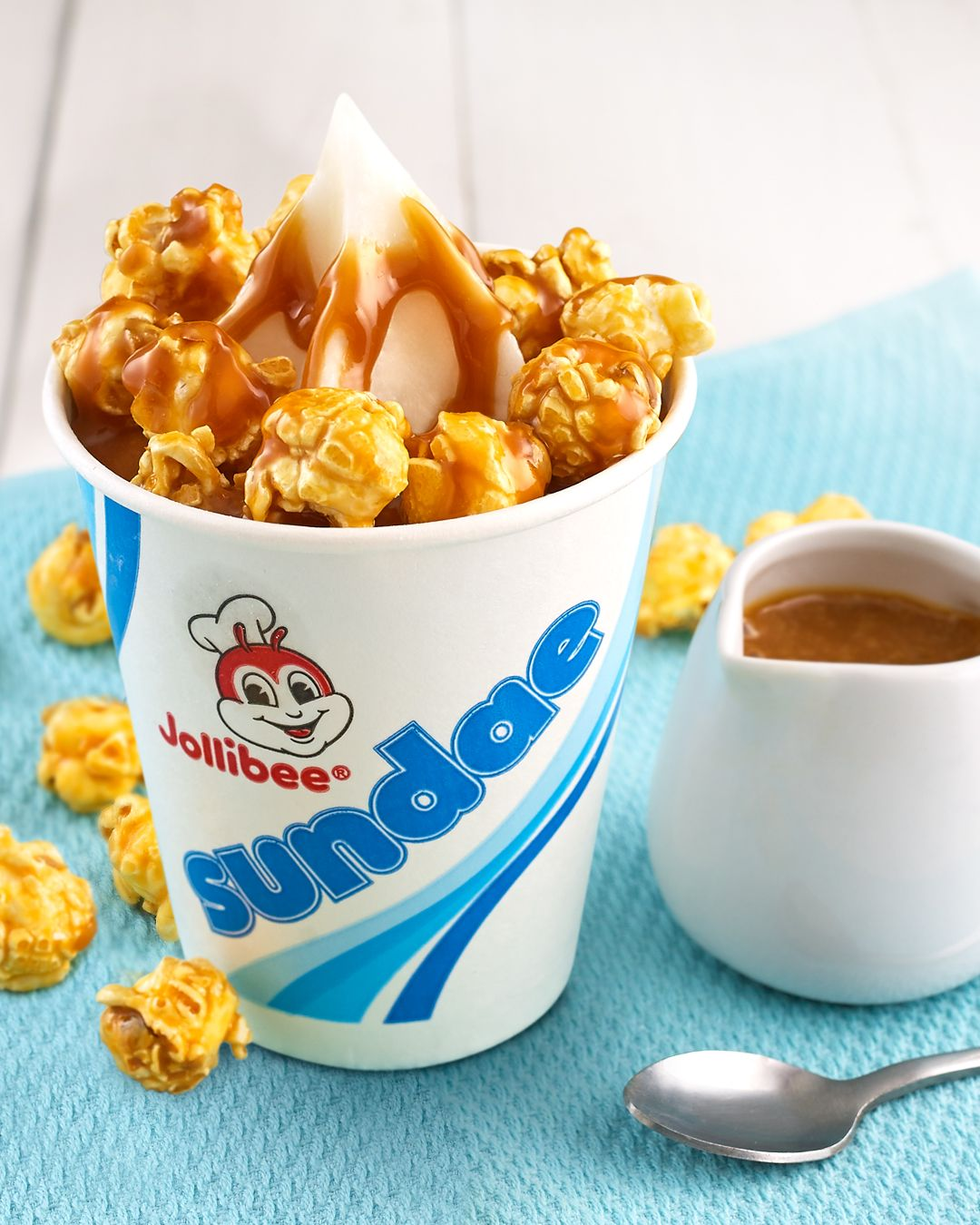 Our favorite caramel sundae just got even better with Jollibee's Caramel Popcorn Sundae Twirl treat