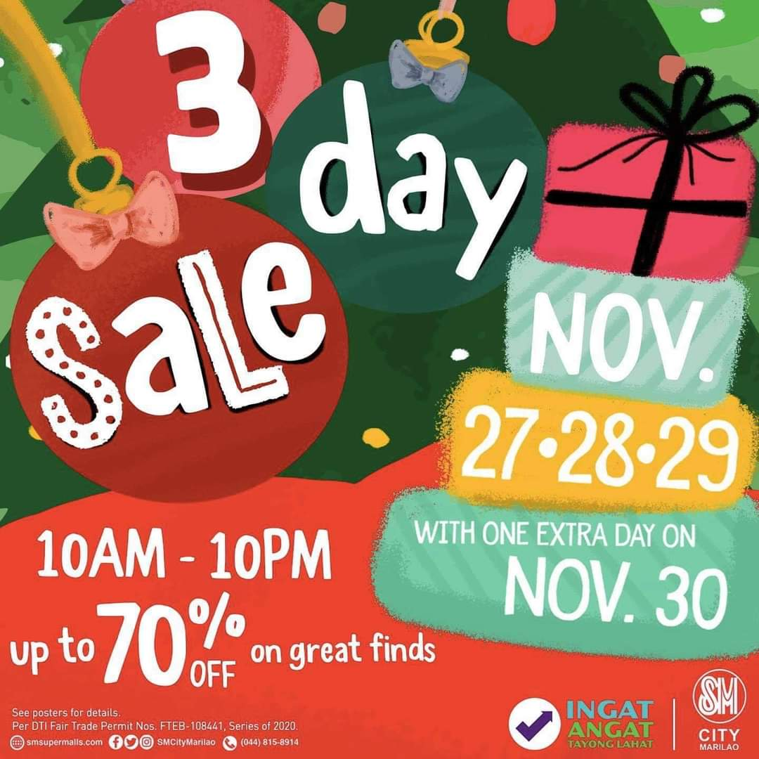 Snag the best deals at SM City Marilao's 3Day Sale