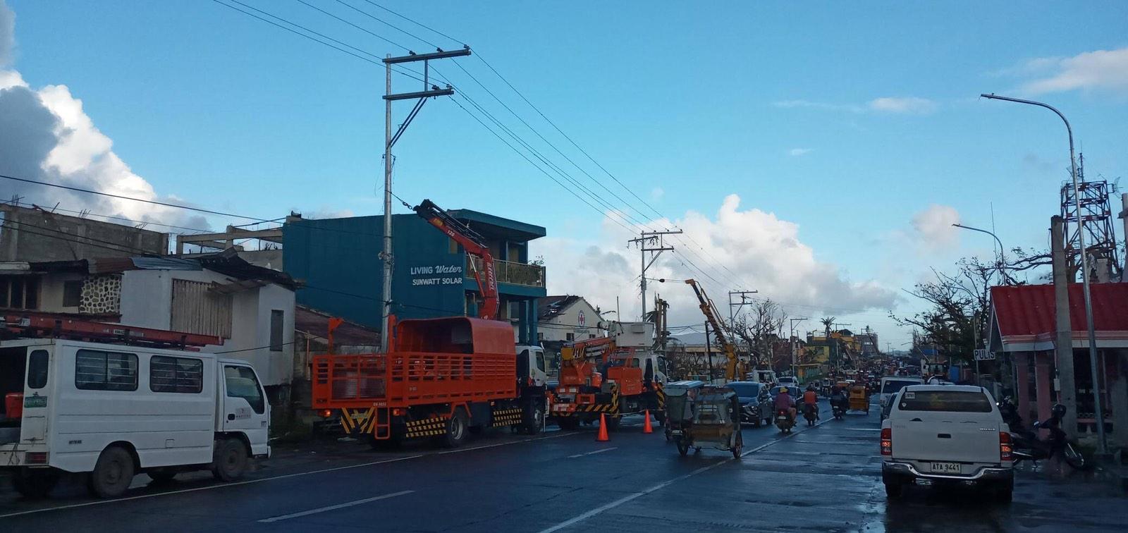 Meralco aids power restoration in typhoon-hit Catanduanes