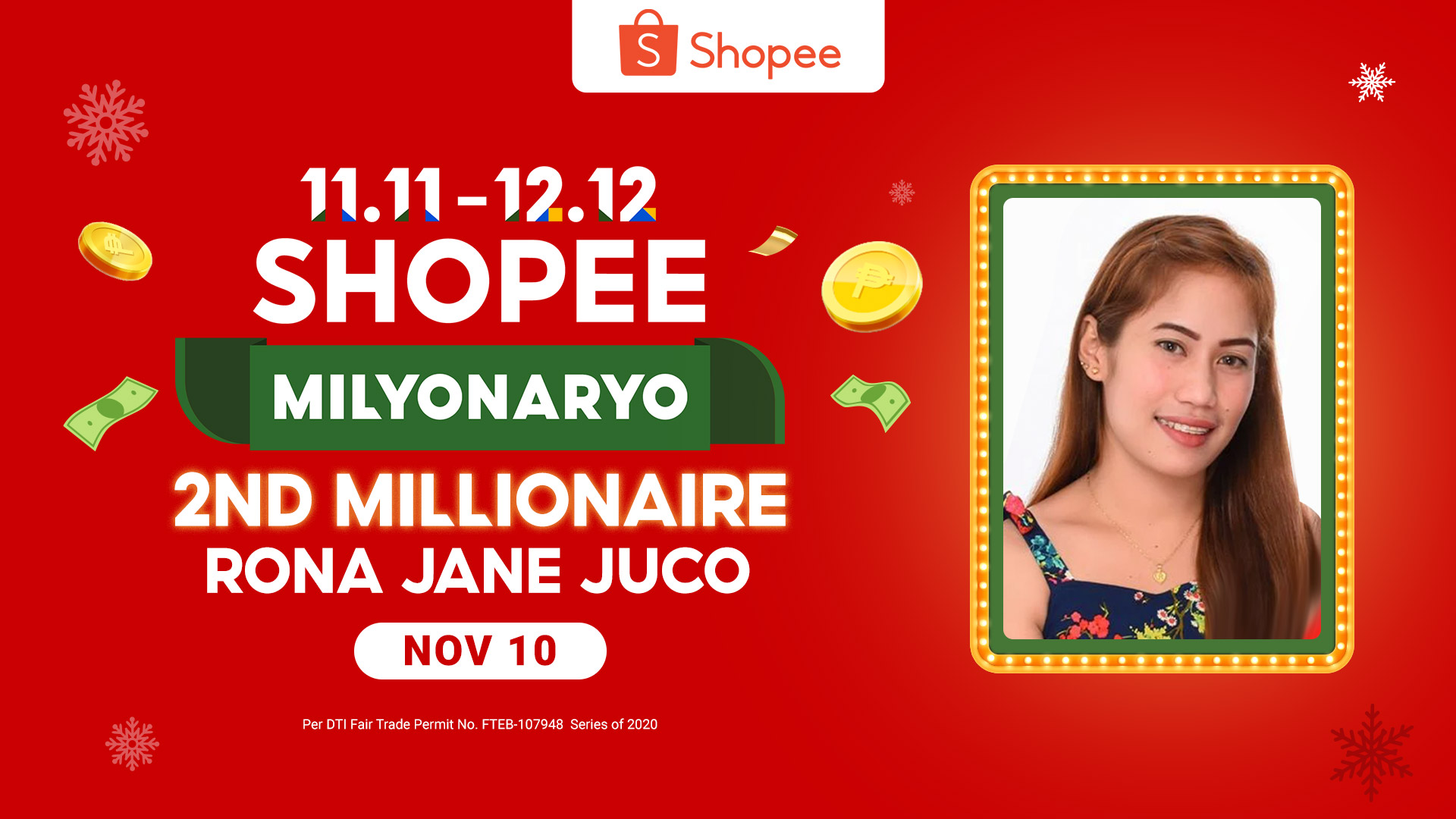 Shopee Milyonaryo second P1M winner is a pregnant mom from San Fernando, Pampanga