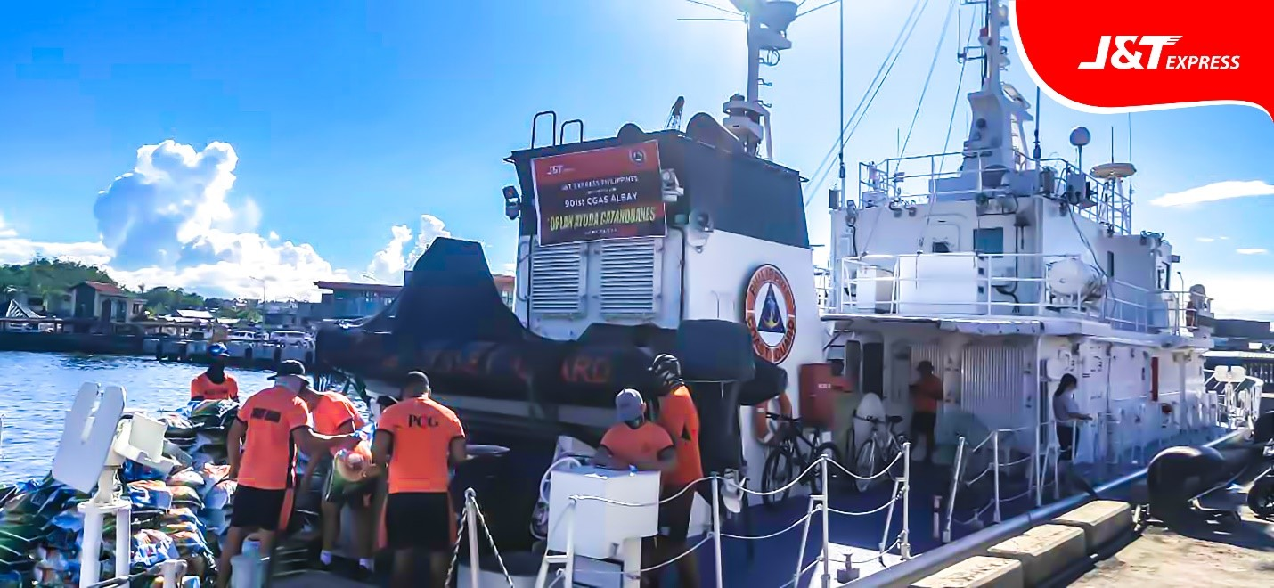 J&T Express donates goods for Catanduanes, Albay