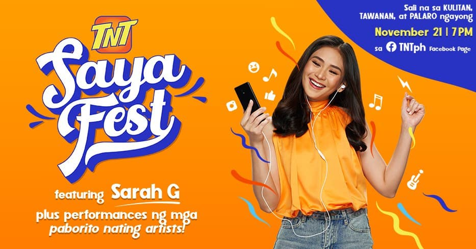 Popstar Royalty Sarah G headlines TNT's biggest online event this year – Saya Fest on Nov.21