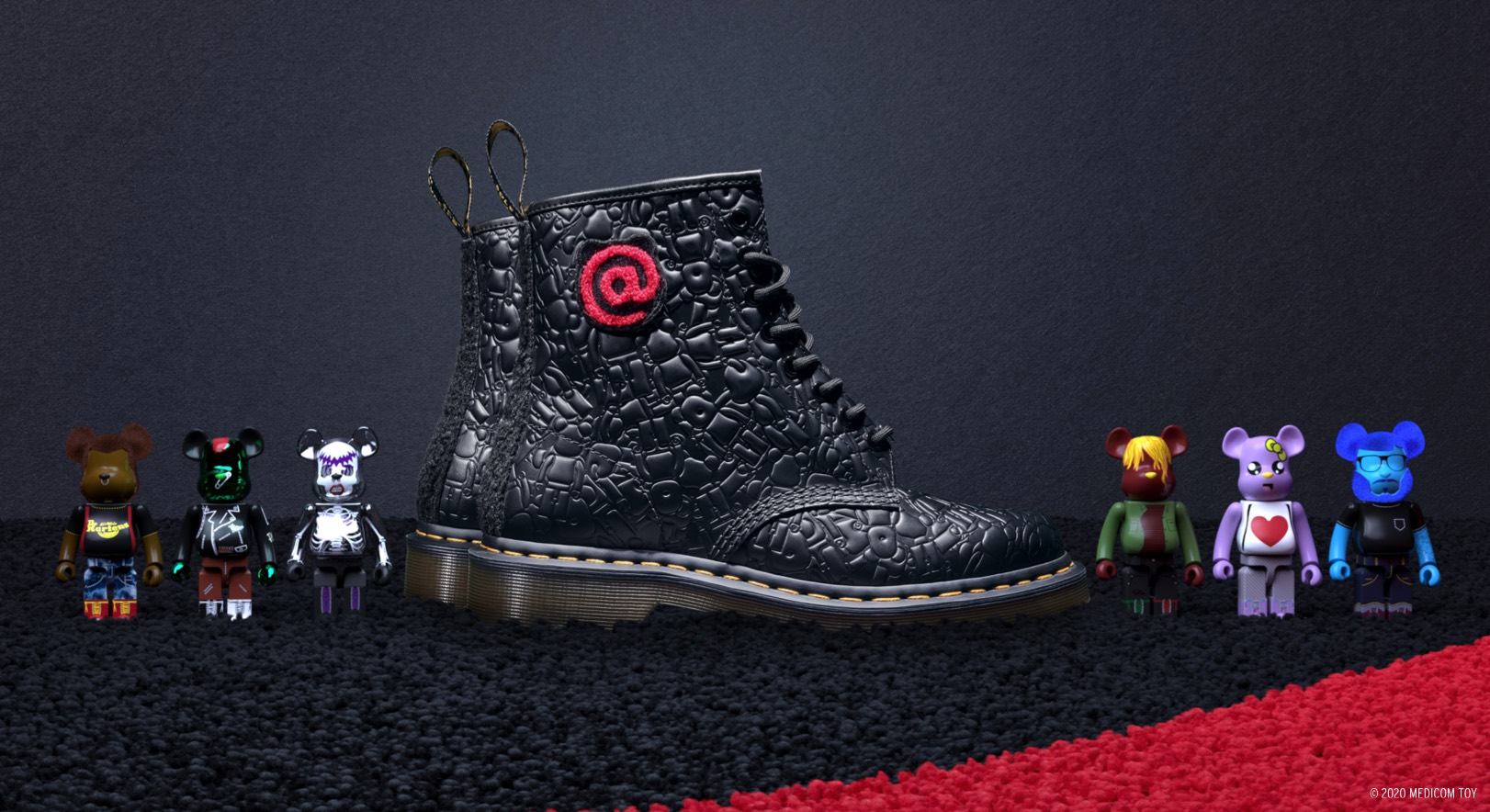 Dr. Martens collab with MEDICOM TOY has officially landed