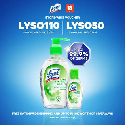 Get Lysol Hand Sanitizer in Shopee's 11.11 Sale!