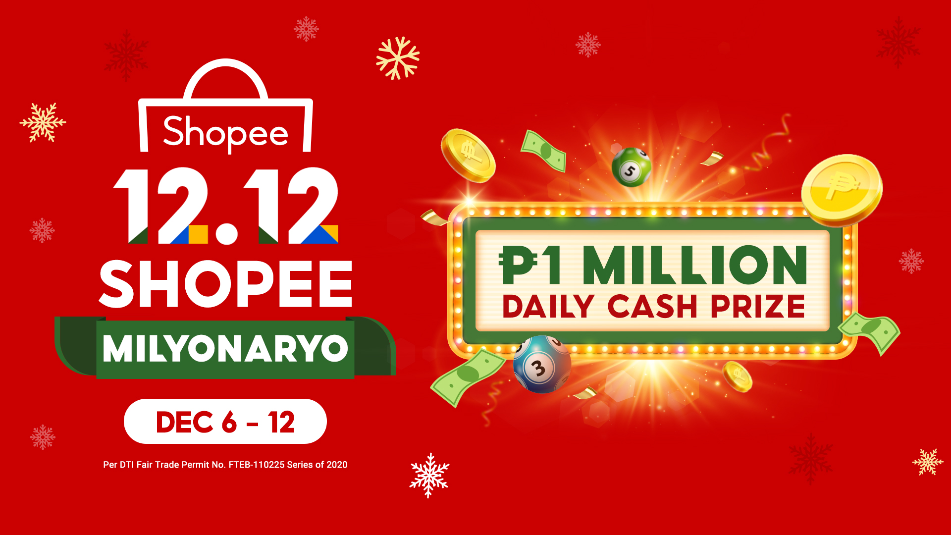 Shopee relaunches Shopee Milyonaryo in time for the 12.12 Big Christmas Sale