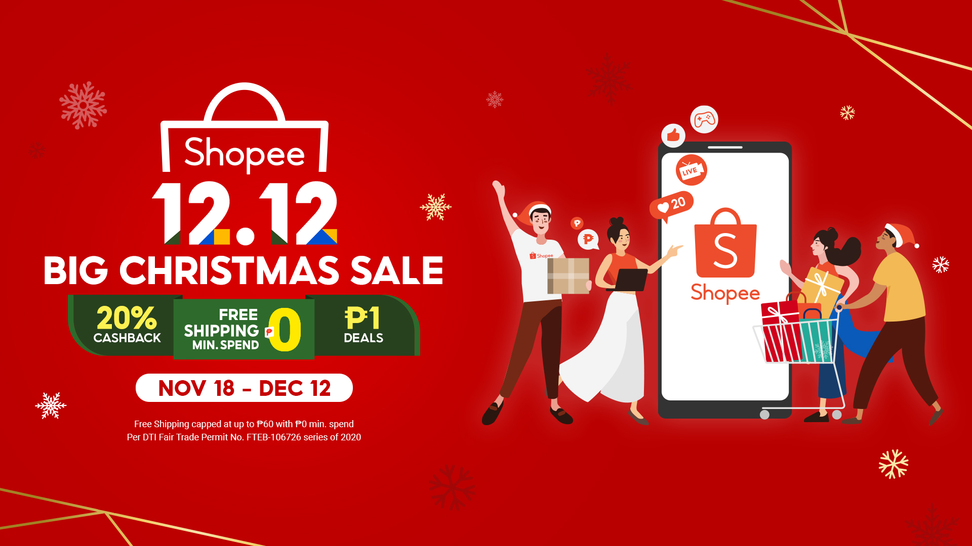 Shopee launches 12.12 Big Christmas Sale, celebrates 5 Years of Digital Acceleration in the region