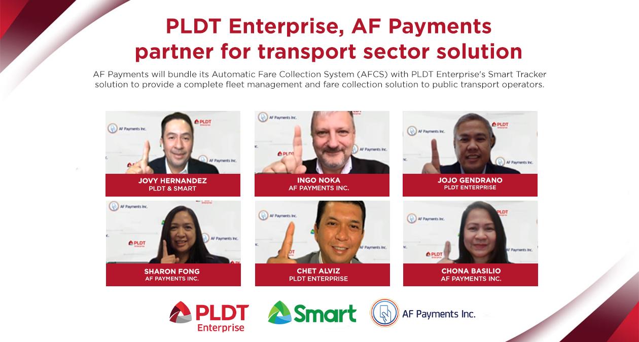 PLDT Enterprise, AF Payments partner for transport sector solution