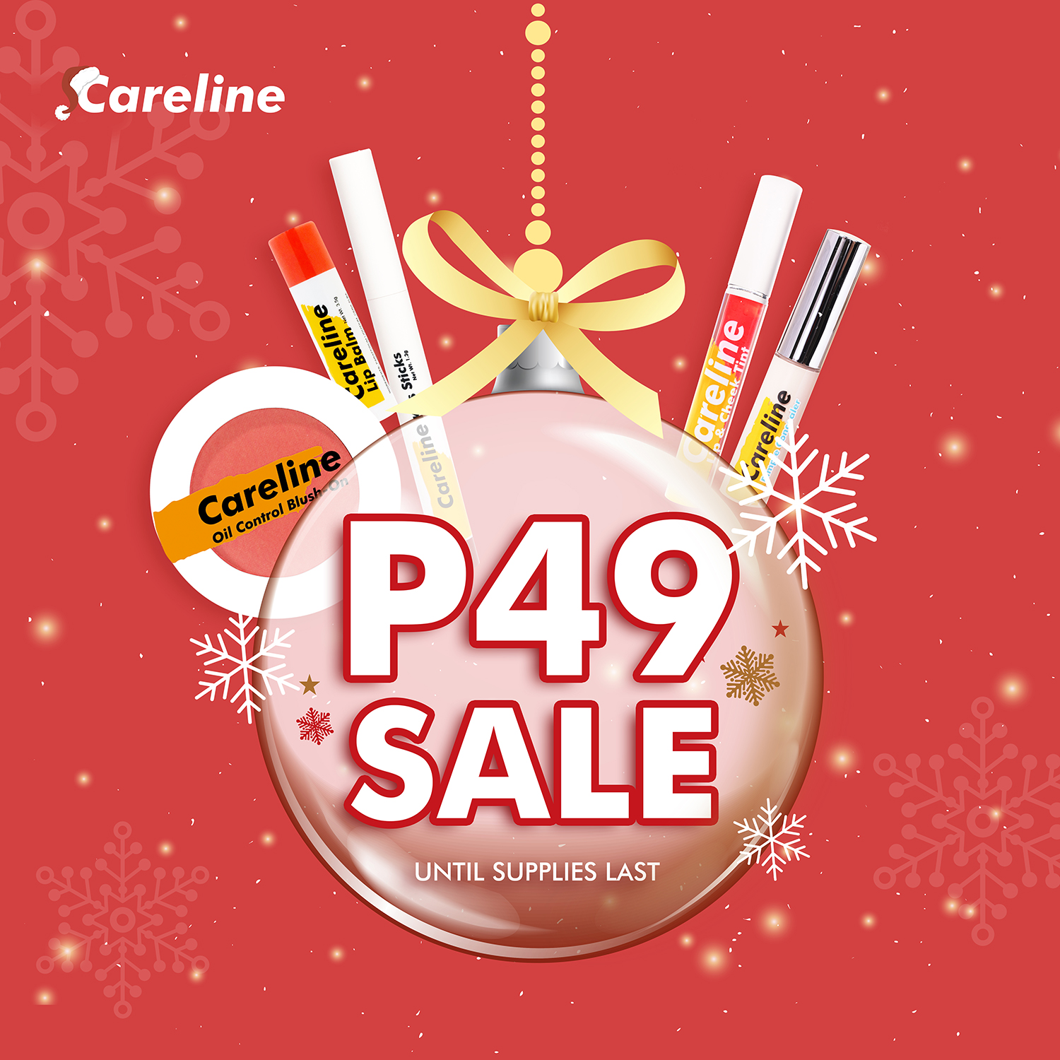 Careline Cosmetics P49 and P99 deals extended until Dec 15