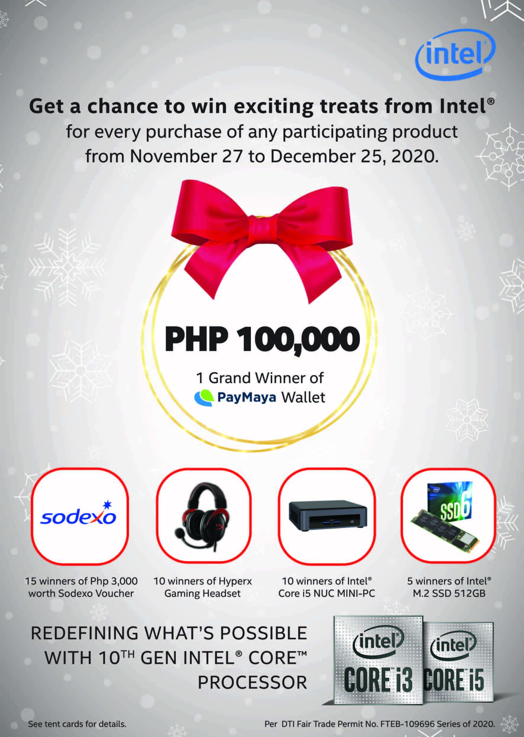 Win as much as P100,000 from Intel promo