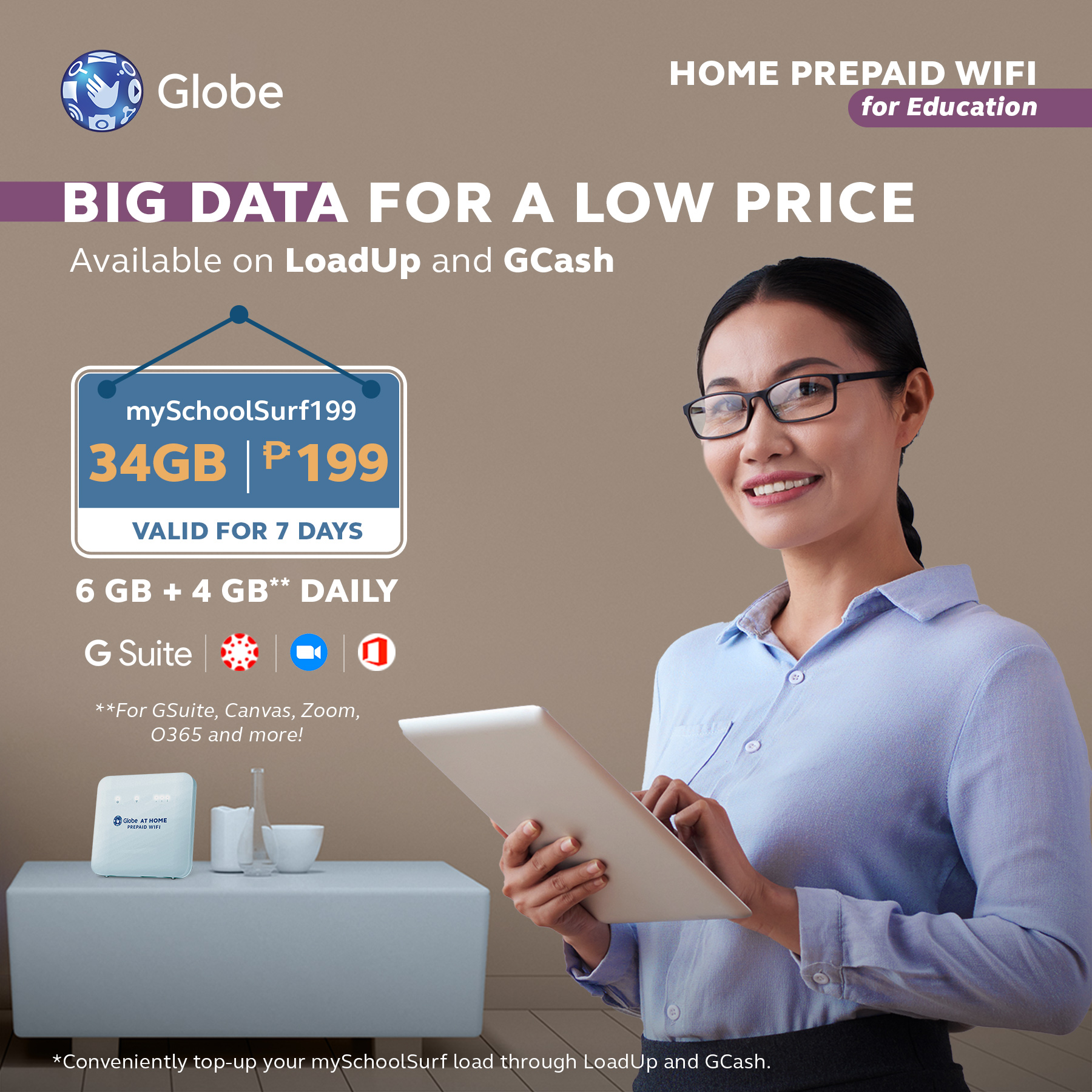 Recreate the way you learn with Globe's Prepaid Wifi Internet Kit for Education