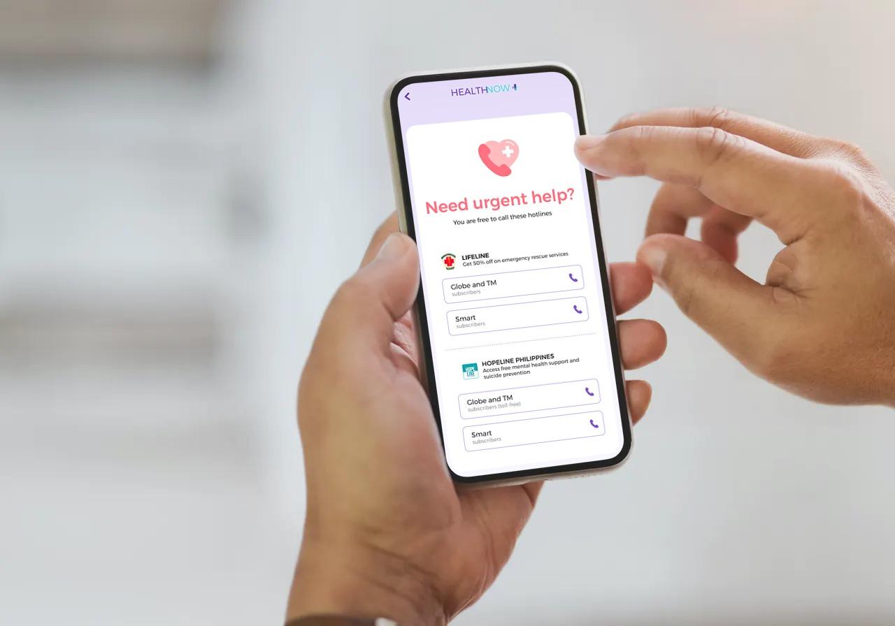 HOPELINE 24/7 mental health support now in HealthNow app