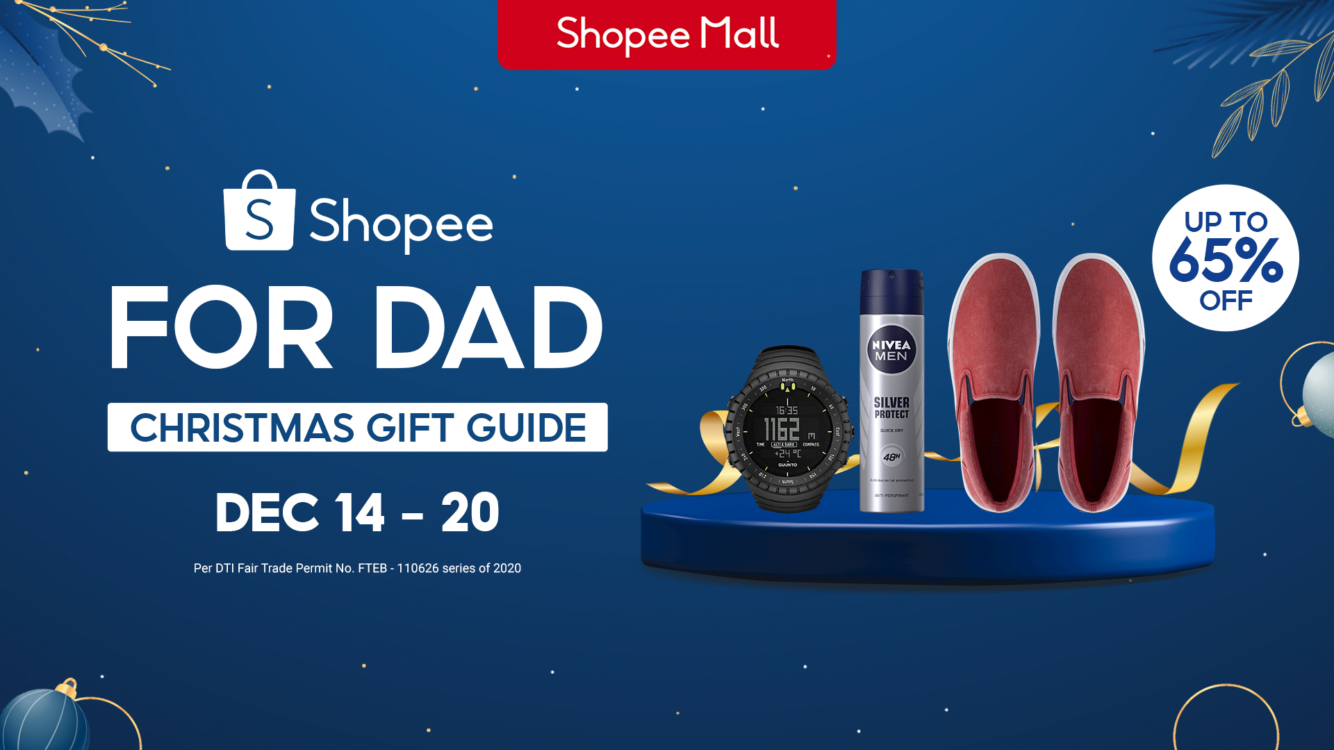 Shopee is offering discounts up to 65% off on the best gifts for dad this Christmas