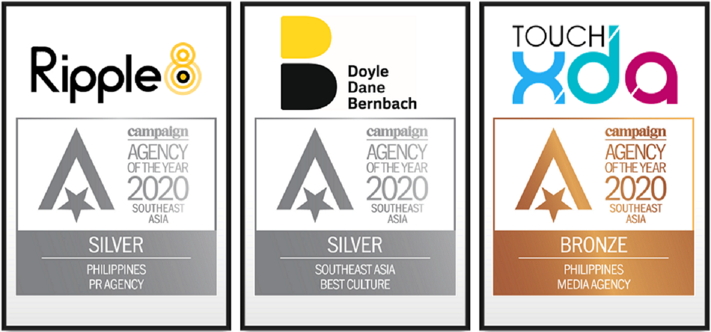 DDB Group bags 3 metals at Campaign Asia-Pacific Agency of the Year Awards
