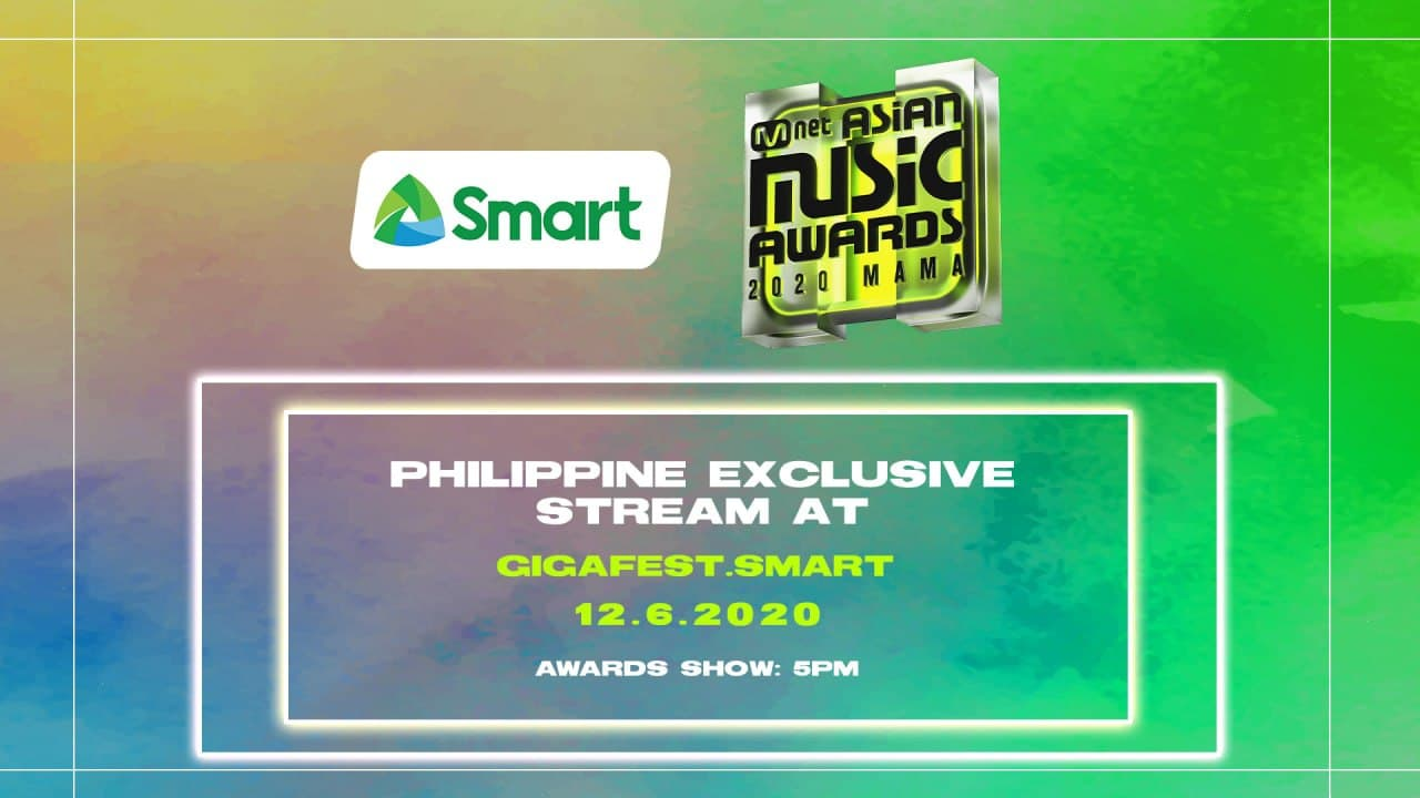 Smart to stream 2020 MAMA live for Filipino K-Pop fans on Dec. 6