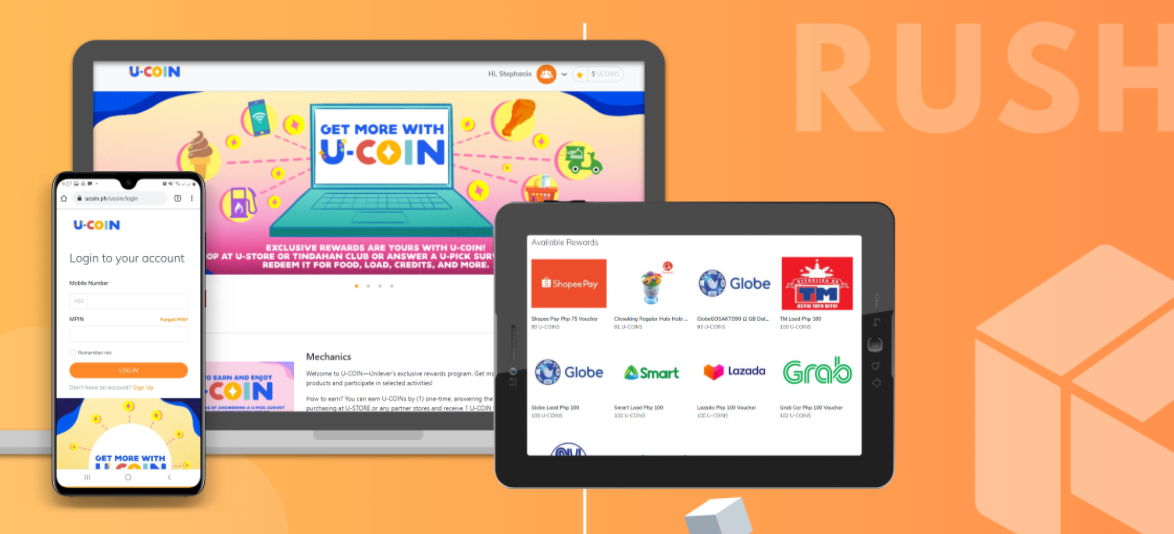 RUSH launches digital and data program with Unilever U-COIN