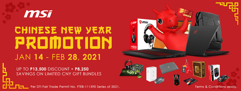 MSI brings massive discount and freebies for all types of laptop users to celebrate this Chinese New Year