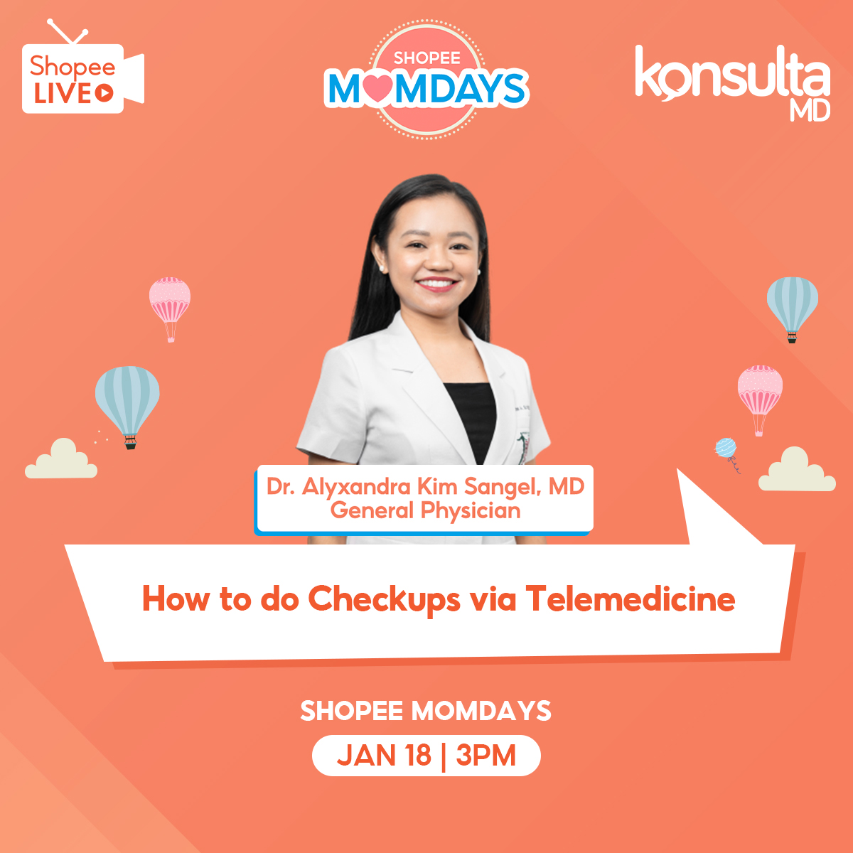 "KonsultaMD and Shopee launch ""MomDays"" to help Filipino Moms learn the benefits of Telemedicine"
