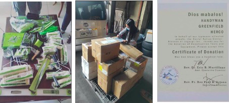 Herco Trading donates tools to rebuild typhoon-hit communities in Bicol