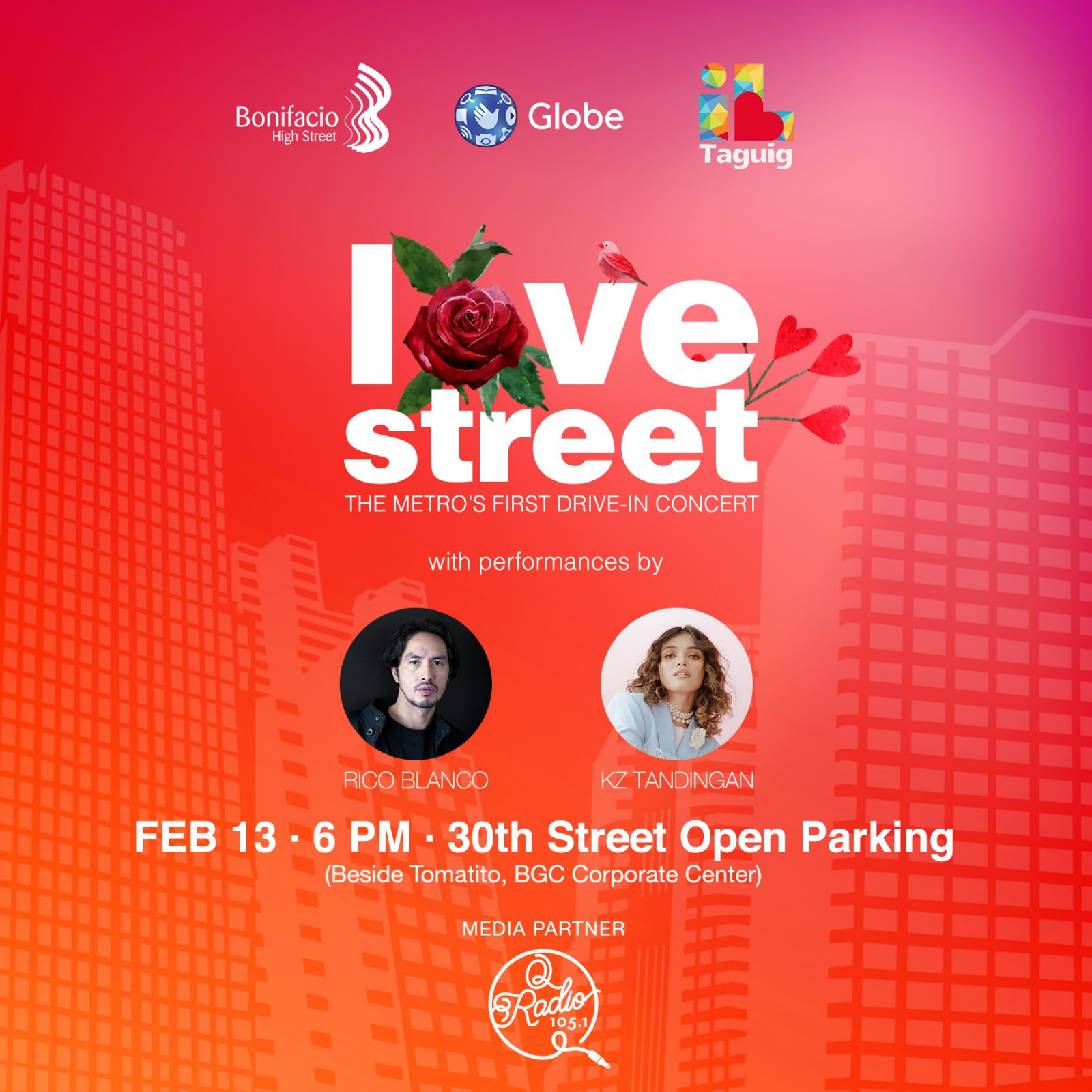 BGC celebrates Love in All its Forms this Valentine's with the first-ever Drive-in Concert in the Metro