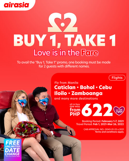 Love is in the Fare with AirAsia's Buy 1, Take 1 Valentine's day treat