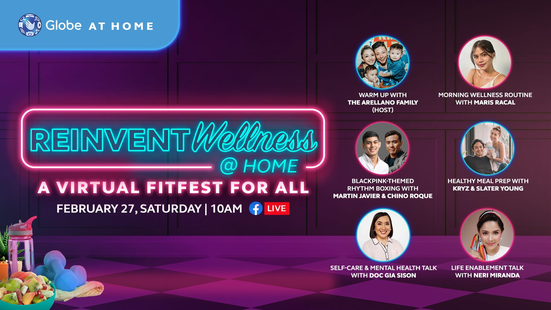 Globe At Home celebrates fitness with #Reinvent Wellness @ Home: A Virtual Fitfest for All activity day