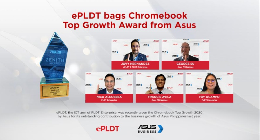 ePLDT bags Chromebook Top Growth Award from ASUS Philippines