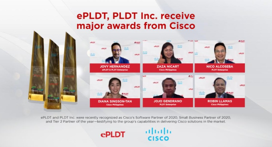 ePLDT, PLDT Inc. receive major awards at Cisco Partner Appreciation Awards