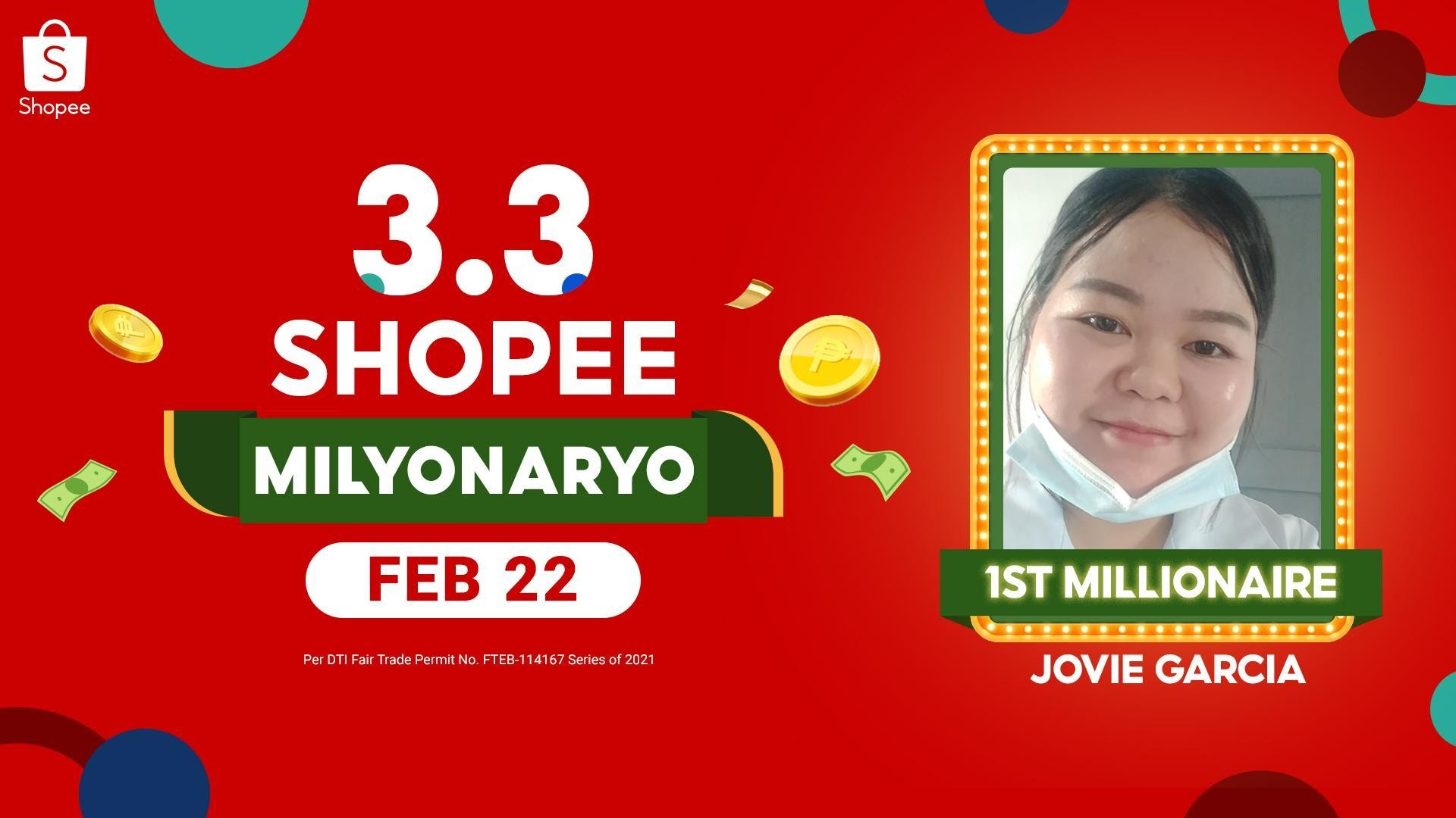 Caregiver from General Santos, wins P1M on the first day of 3.3 Shopee Milyonaryo