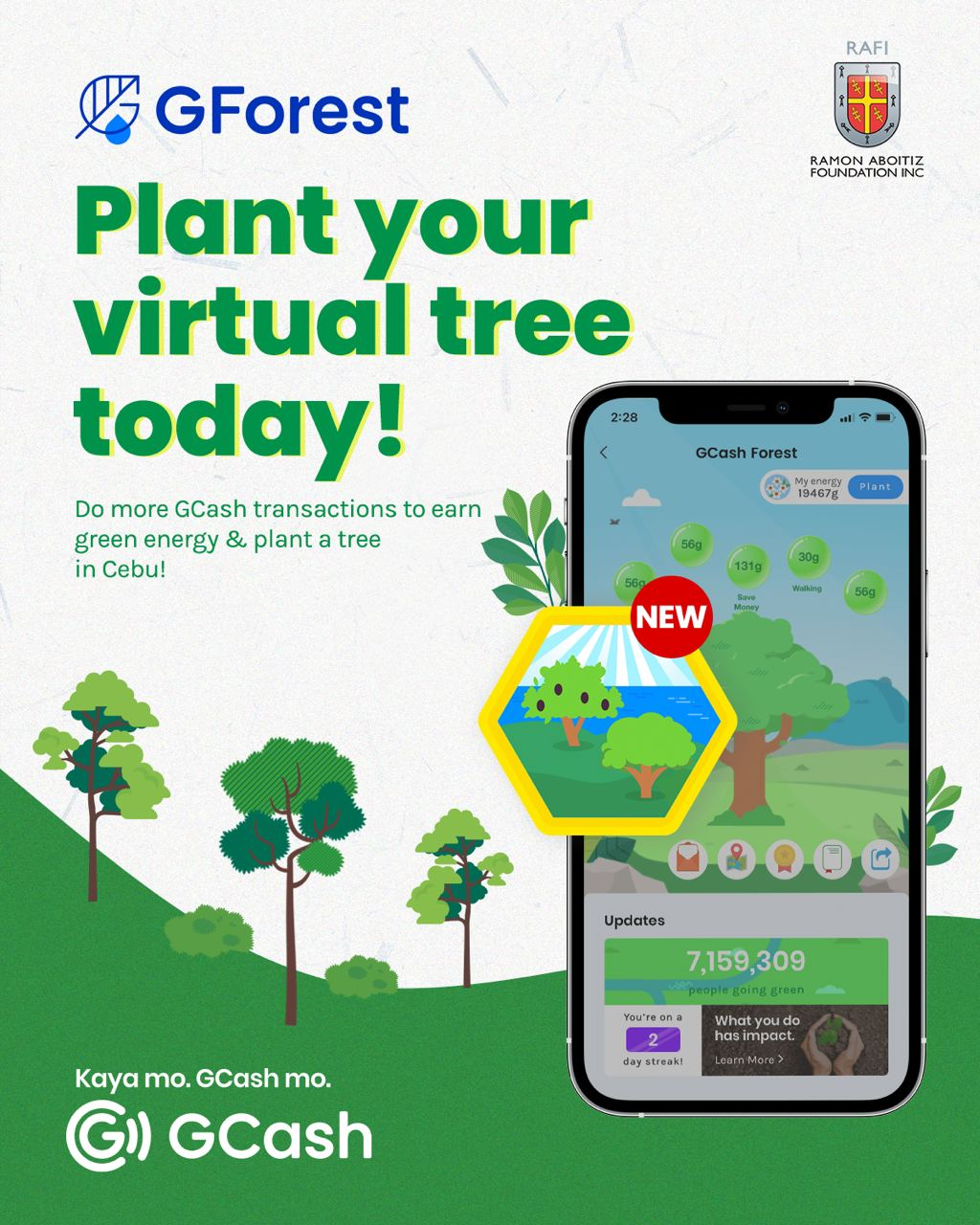 RAFI and GCash team up for 'virtual to actual' tree-planting in the Visayas