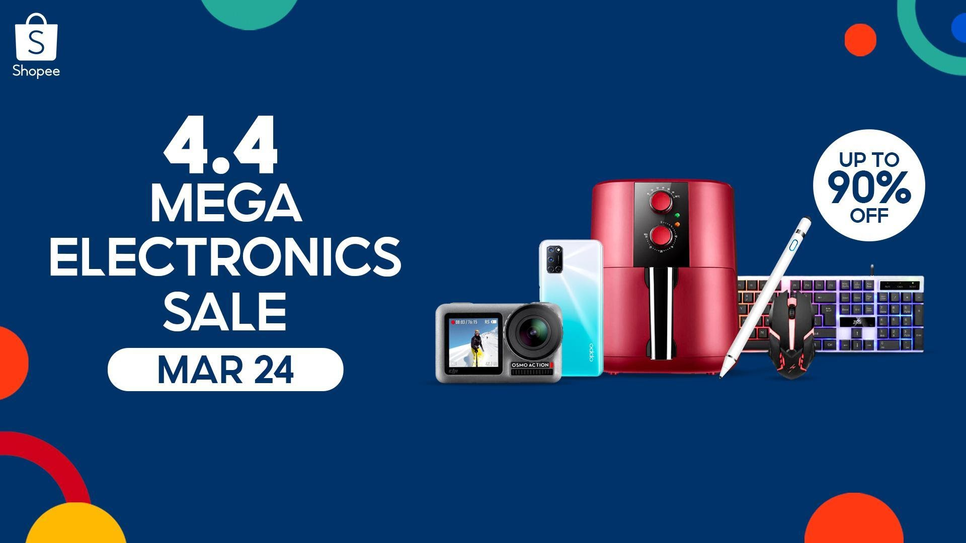 Get all your hobby-related gadgets on sale at Shopee's 4.4 Mega Electronics Sale