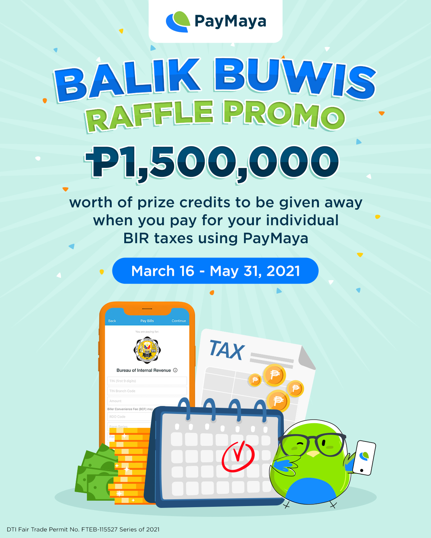 PayMaya makes government payments more rewarding with Balik Buwis Raffle Promo