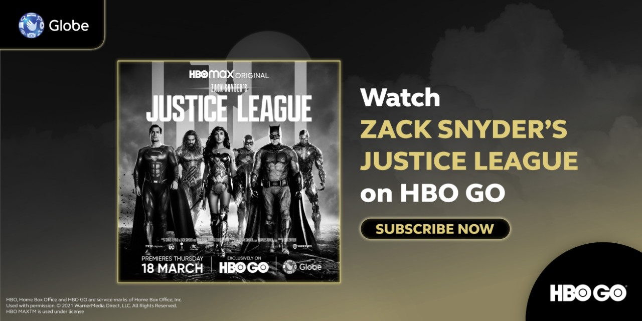 Zack Snyder's Justice League and Other DCEU films and series available on HBO GO with Globe