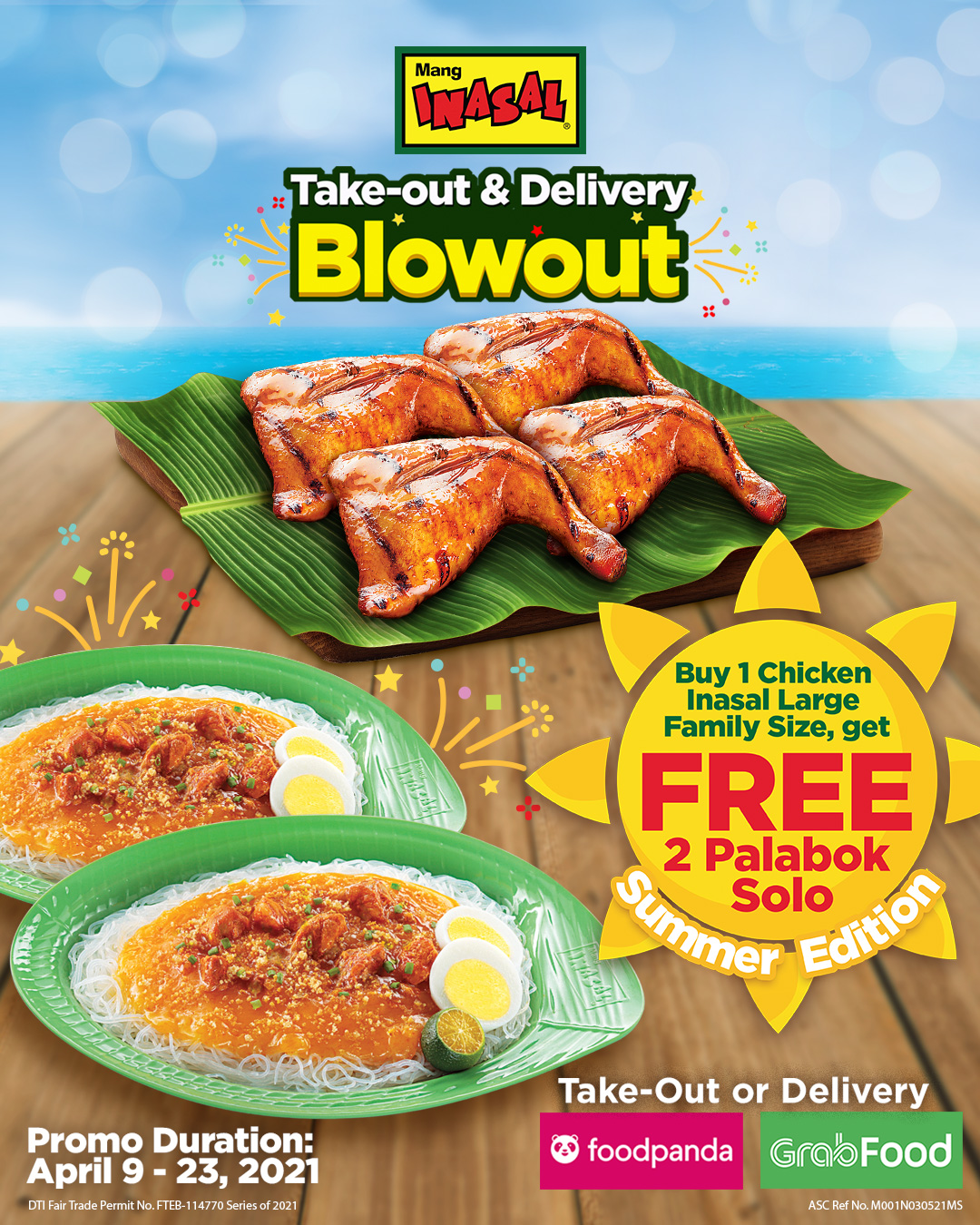 Mang Inasal Chicken and Palabok fans get another round of Blowout treat this summer