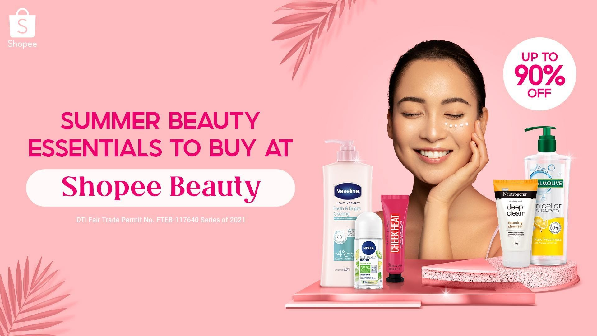 Take up to 90% off on skincare, makeup, and other beauty products at Shopee Beauty starting April 21